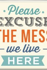 Магнет Excuse the mess